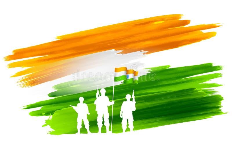 Предпосылка Индии иллюстрация вектора