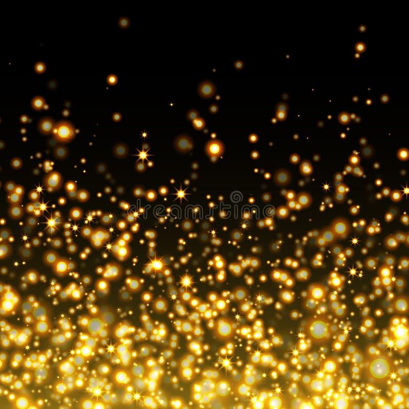 Предпосылка искры золота вектора блестящая бесплатная иллюстрация
