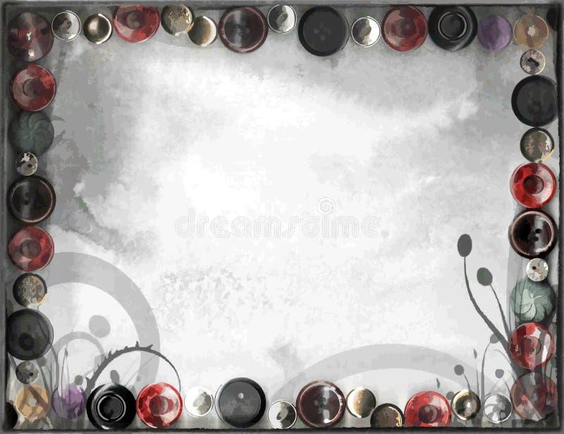 Предпосылка листьев винтажных кнопок Grunge травяная иллюстрация штока