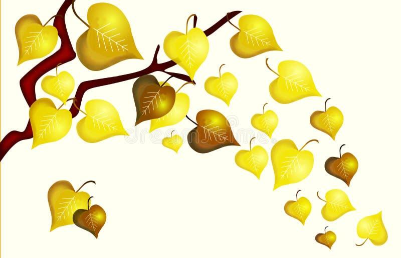 Предпосылка листьев осени наивная изолированная на белизне стоковая фотография