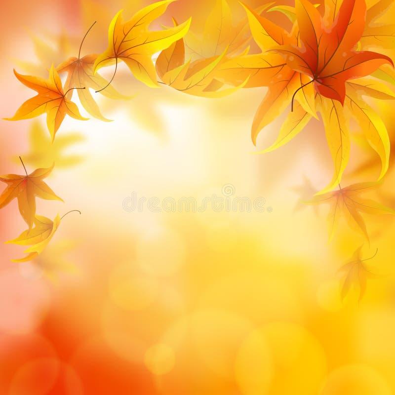 Предпосылка листьев осени иллюстрация штока