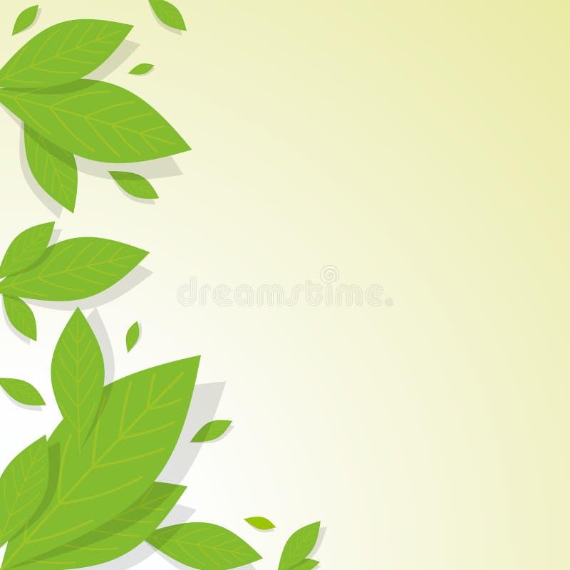 Предпосылка листьев бесплатная иллюстрация