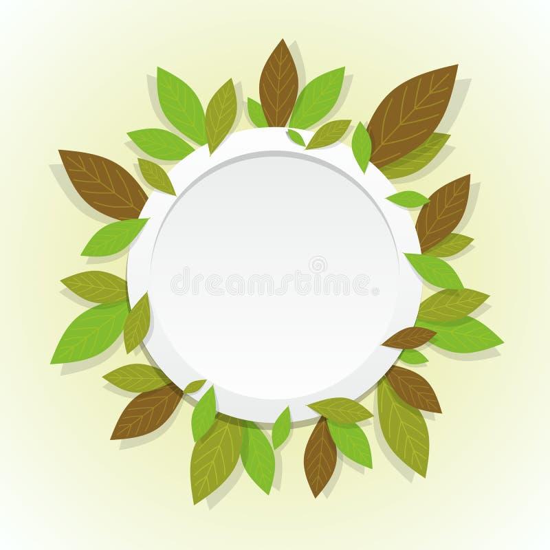 Предпосылка листьев иллюстрация вектора