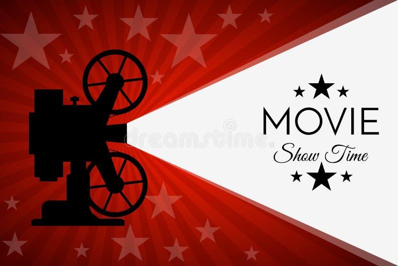 Предпосылка или знамя кино Шаблон билета рогульки кино бесплатная иллюстрация