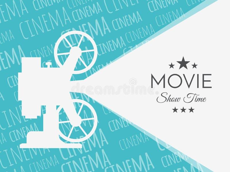 Предпосылка или знамя кино Шаблон билета рогульки кино иллюстрация вектора