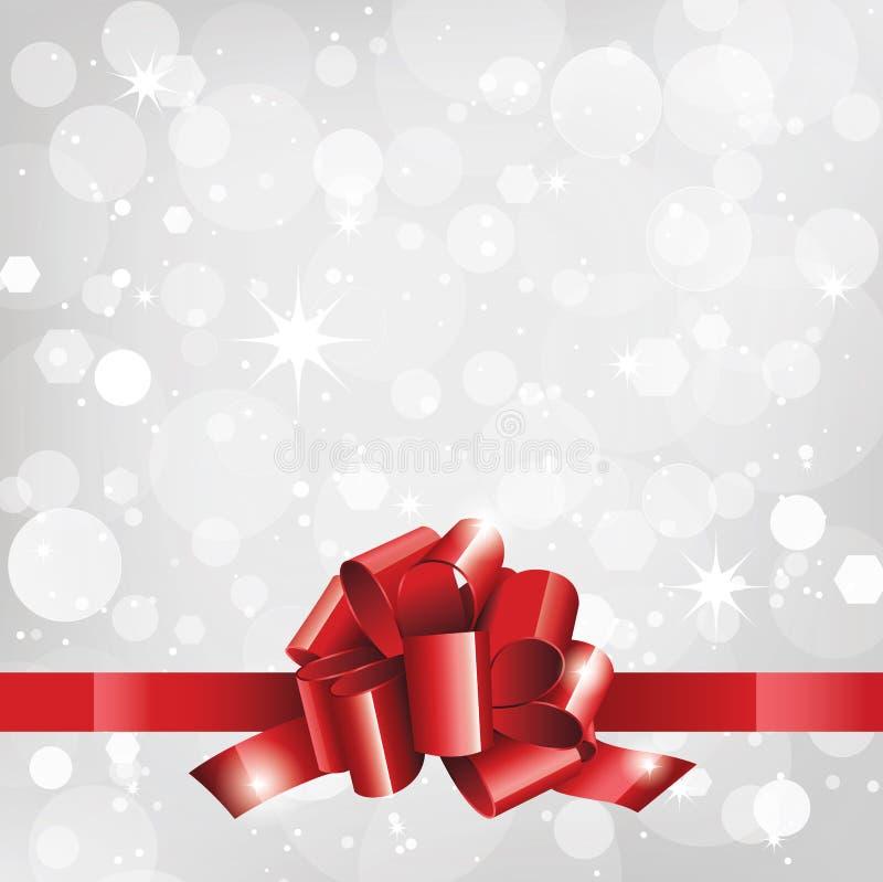 Предпосылка или карточка праздника с красной лентой иллюстрация штока