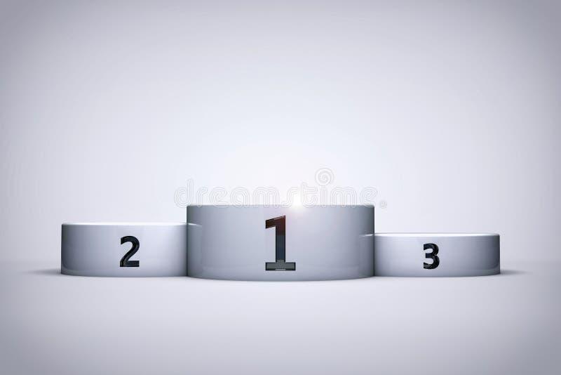 Предпосылка или обои подиума чемпионата иллюстрация штока