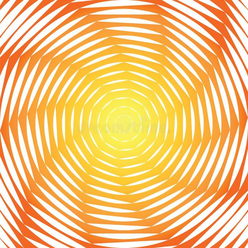 Предпосылка иллюзии движения свирли дизайна солнечная иллюстрация штока