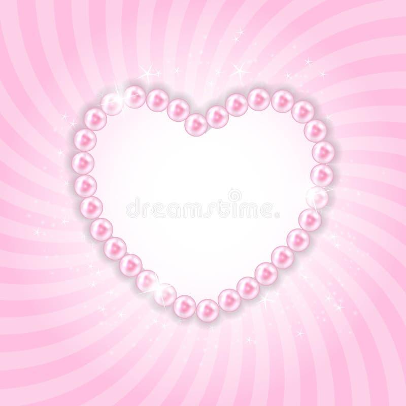 Предпосылка иллюстрации вектора сердца перлы иллюстрация вектора