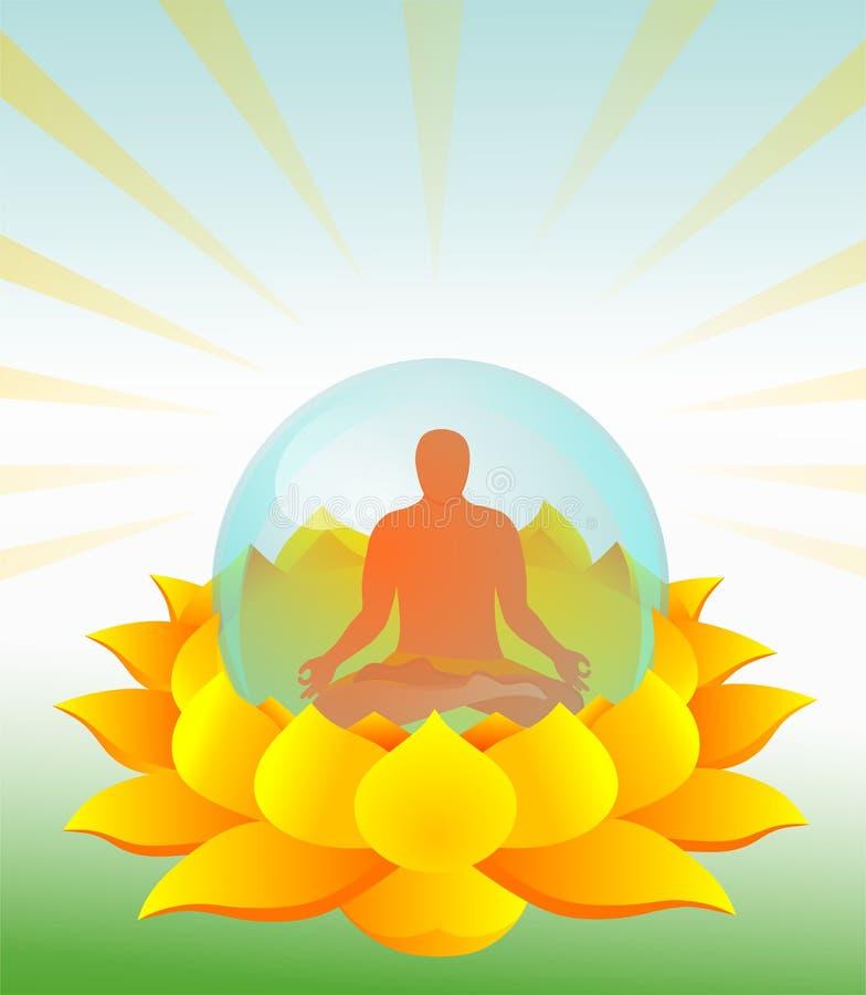 Предпосылка йоги иллюстрация вектора