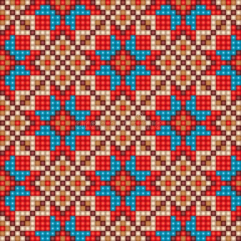 Предпосылка картины мозаики безшовная этническая иллюстрация штока