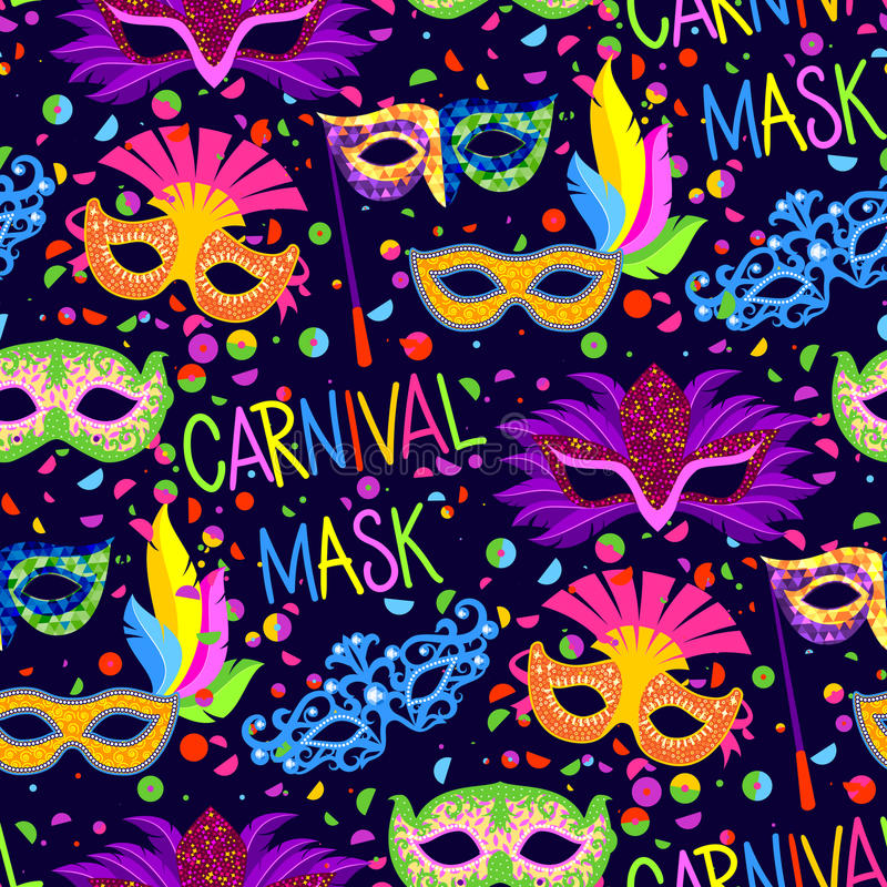 Предпосылка картины подлинного handmade венецианского вектора masquerade украшения партии лицевого щитка гермошлема масленицы без иллюстрация вектора