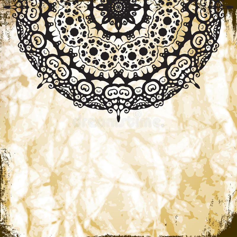 Предпосылка картины шнурка с индийским орнаментом иллюстрация штока