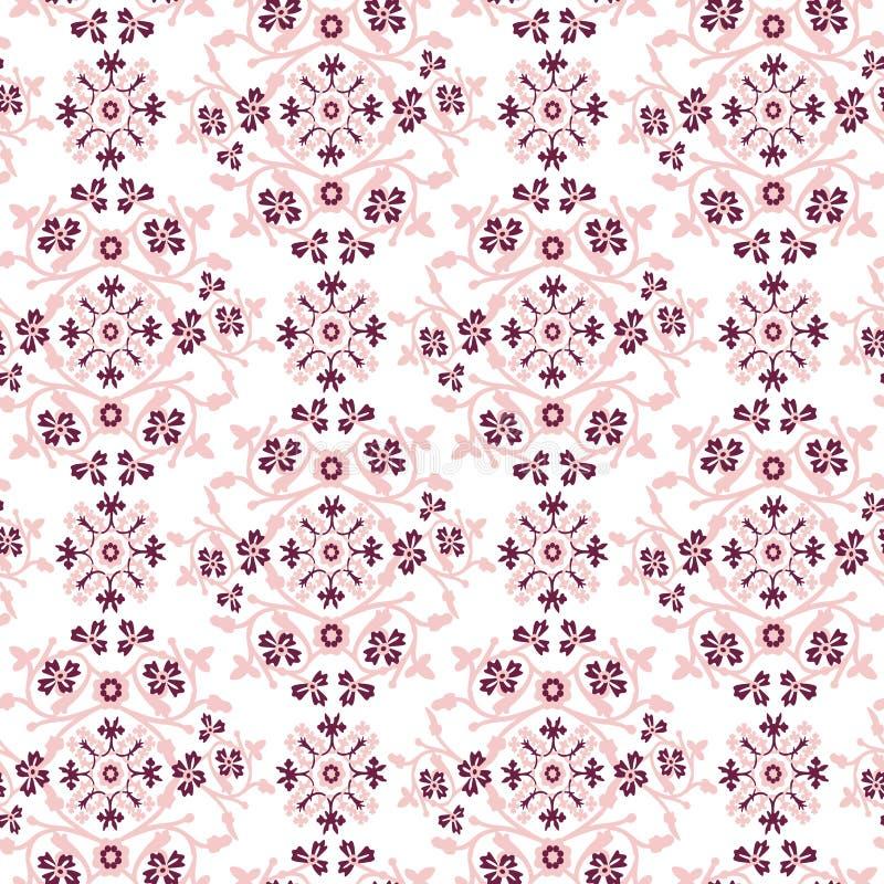 Предпосылка картины штофа винтажная флористическая безшовная бесплатная иллюстрация