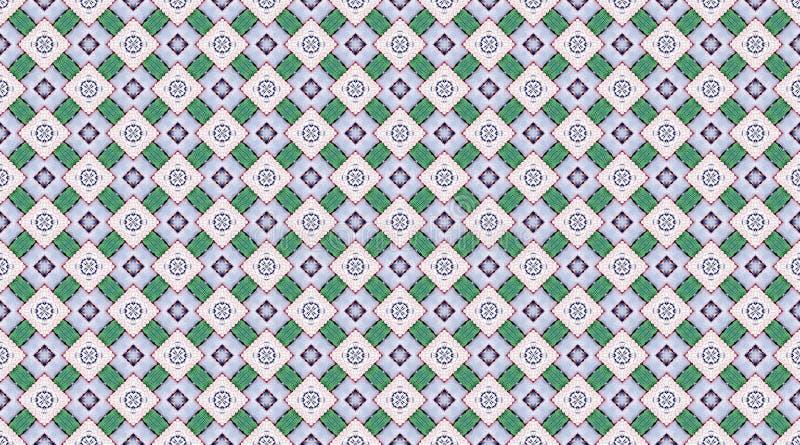 Предпосылка картины silk ткани Knited тайская иллюстрация вектора