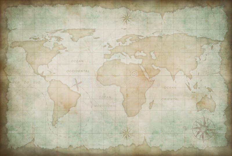 Предпосылка карты Старого Мира иллюстрация штока