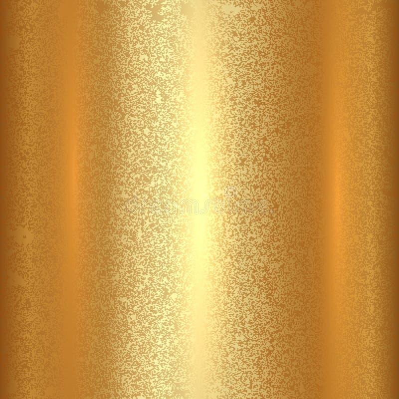 Предпосылка квадрата текстуры золота вектора абстрактная иллюстрация вектора
