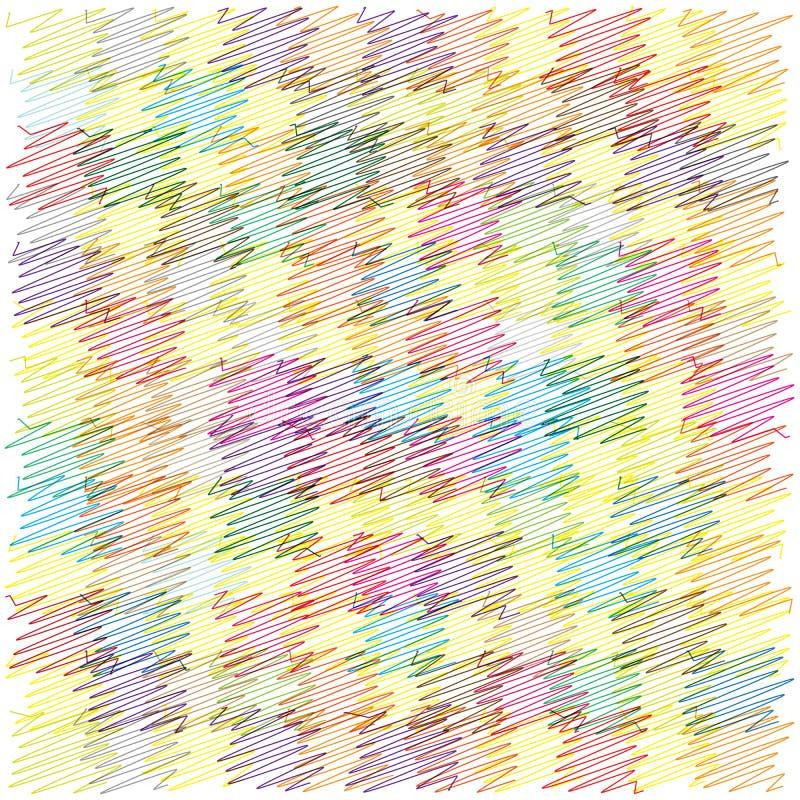 Предпосылка квадратов Scribble яркая иллюстрация штока