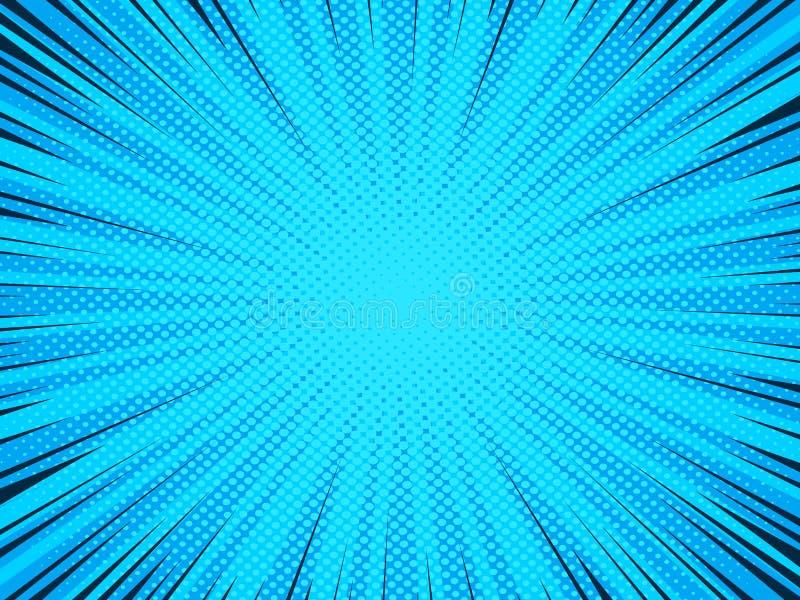 Предпосылка комика, картина текстуры полутонового изображения иллюстрация штока