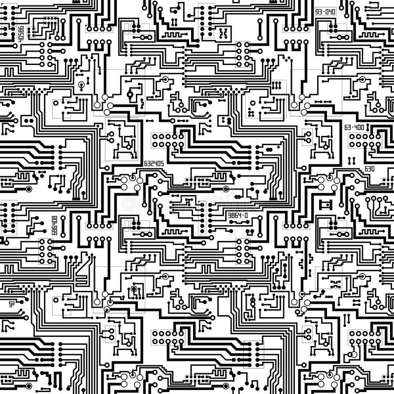 Patter вектора монтажной платы безшовный технологический бесплатная иллюстрация