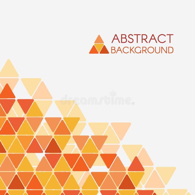 Предпосылка конспекта вектора угла треугольника оранжевого желтого цвета иллюстрация вектора