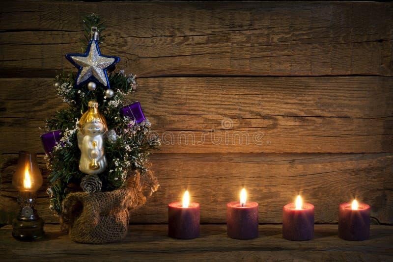 Предпосылка конспекта дерева рождества винтажная стоковое изображение