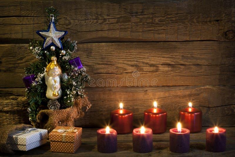 Предпосылка конспекта дерева рождества винтажная стоковое фото rf