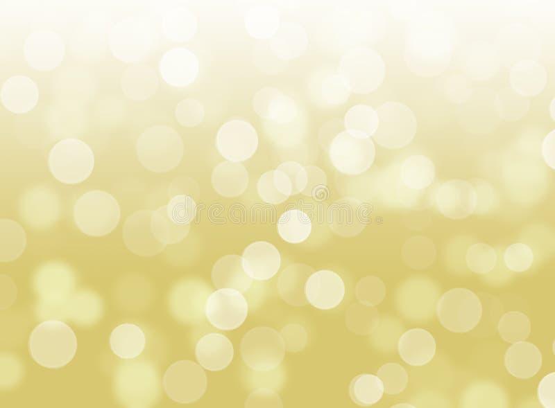 Предпосылка конспекта золота Bokeh яркого блеска defocused стоковые изображения rf