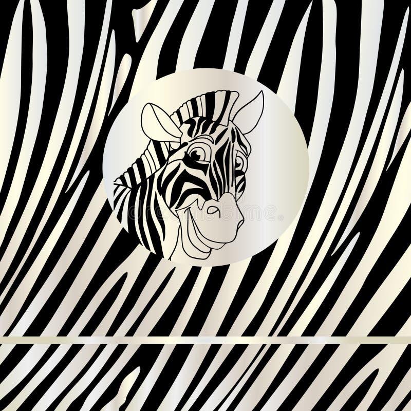 Предпосылка конспекта портрета зебры иллюстрация штока