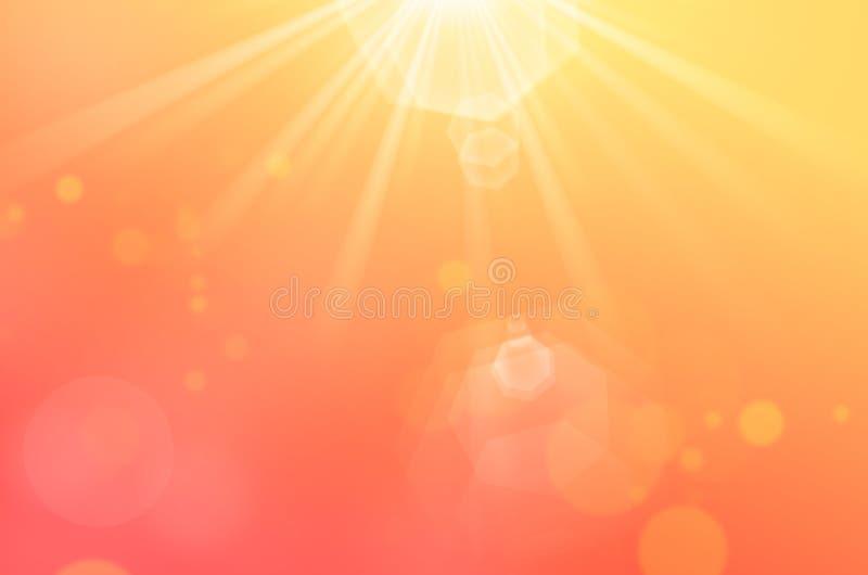 Предпосылка конспекта солнечного света Bokeh стоковое изображение