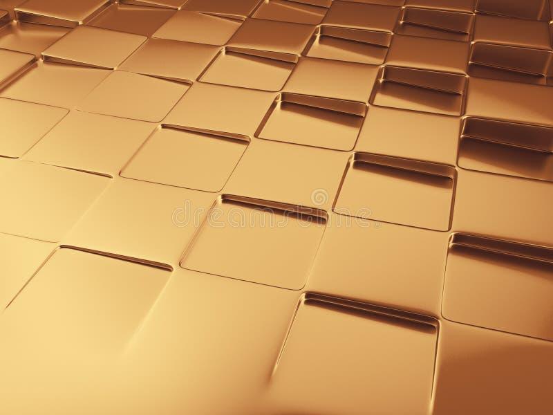 предпосылка конспекта illustrtion 3d геометрическая золотая иллюстрация вектора