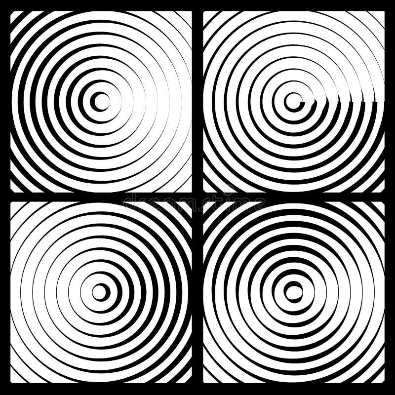 Download Предпосылка концентрических кругов Monochrome абстрактная излучать Cir Иллюстрация вектора - иллюстрации насчитывающей иллюстрация, кругово: 81812591