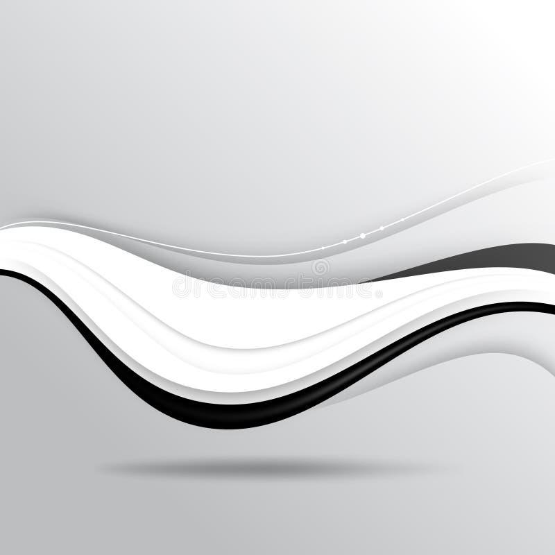 Предпосылка концепции волны вектора черно-белая иллюстрация штока