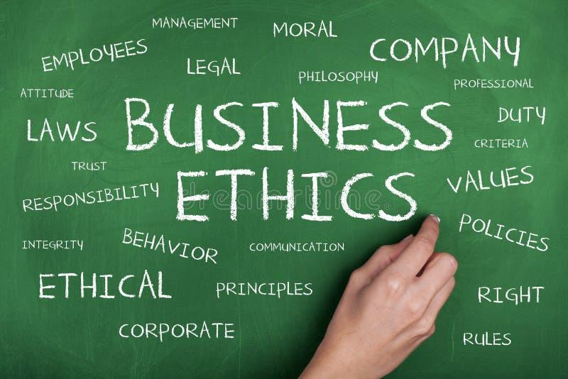 Предпосылка концепции облака слова деловой этики стоковые изображения rf