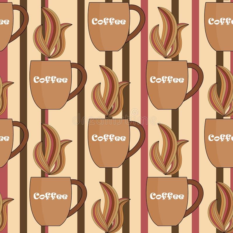 Предпосылка кофе Брайна безшовная иллюстрация вектора