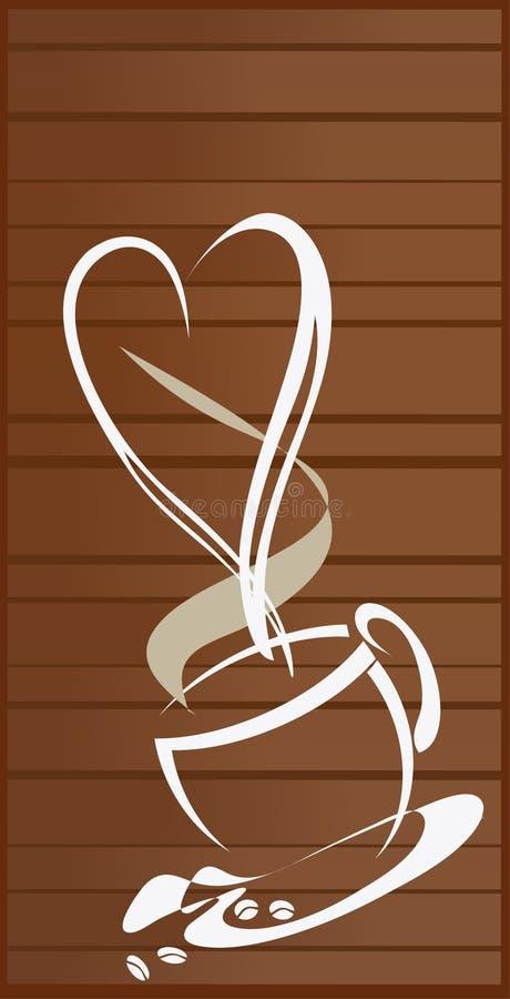 Download Предпосылка кофе влюбленности Стоковое Изображение - изображение насчитывающей кофе, backhoe: 41650711