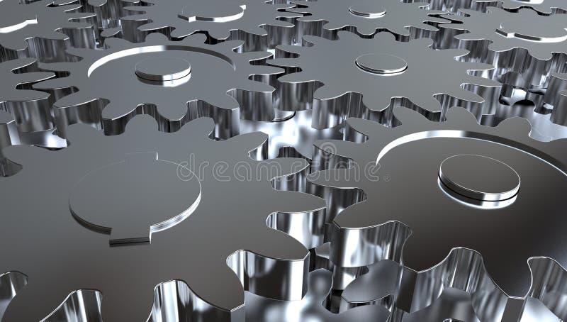 Предпосылка колес шестерни иллюстрация вектора