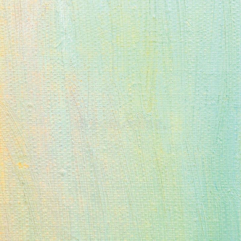 Предпосылка краски масла, яркая ультрамариновая синь, желтый цвет, пинк, бирюза, большая щетка штрихует крася детализированную те стоковые фото