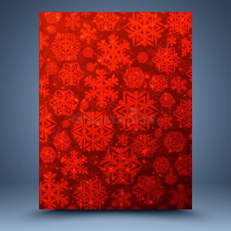 Предпосылка красного цвета рождества иллюстрация штока