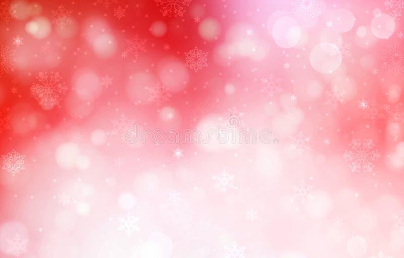 Предпосылка красного цвета рождества иллюстрация вектора