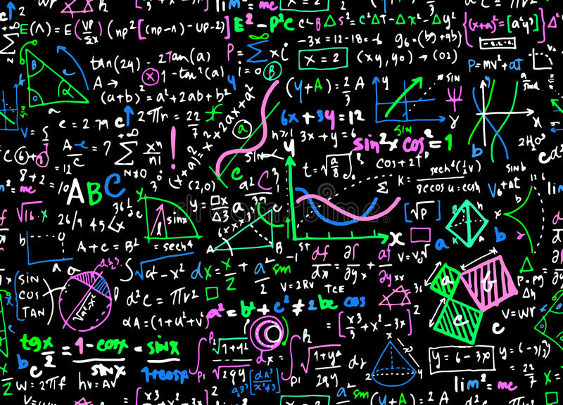 Предпосылка круга образования математики математики линейная с geometr иллюстрация вектора