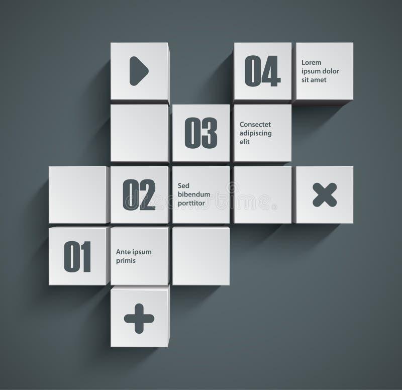 Предпосылка кубов иллюстрация вектора