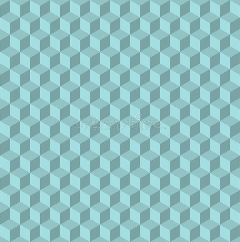 предпосылка кубов 3d безшовная, дизайн стиля иллюстрации современный Выбитая картина cuboids абстрактная иллюстрация вектора