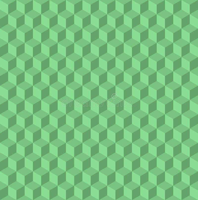 предпосылка кубов 3d безшовная, дизайн стиля иллюстрации современный Выбитая картина cuboids абстрактная иллюстрация штока