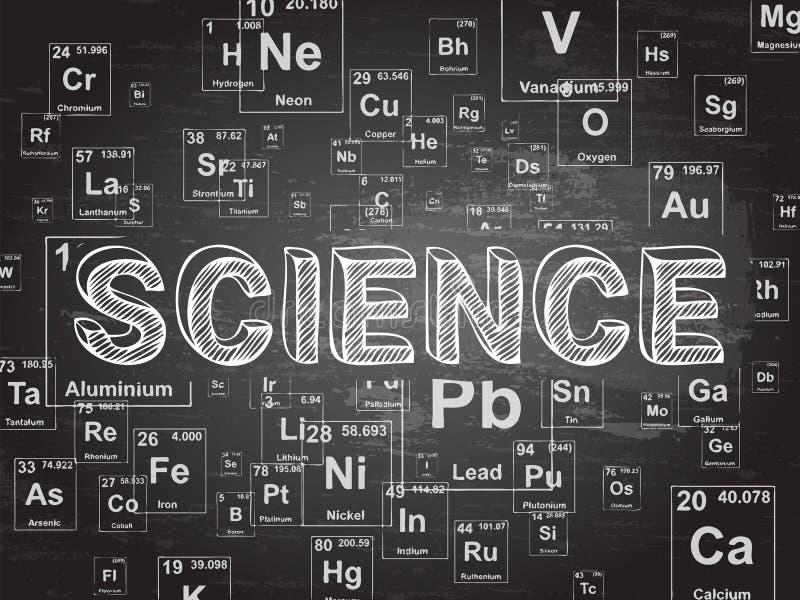 Предпосылка классн классного элемента науки иллюстрация штока