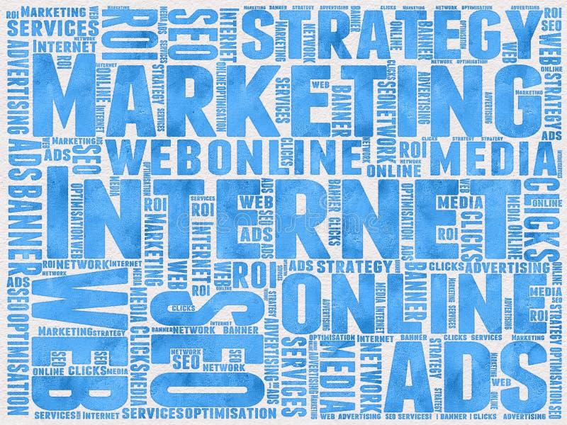 Предпосылка маркетинга интернета иллюстрация штока