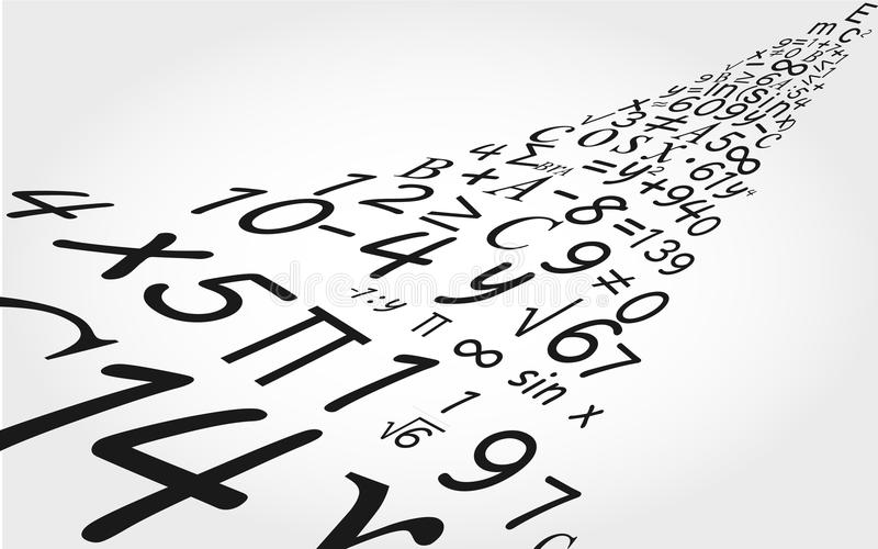 Предпосылка математики стоковое фото