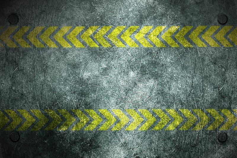 Предпосылка металла Grunge заклепка на металлической пластине и желтом цвете бесплатная иллюстрация