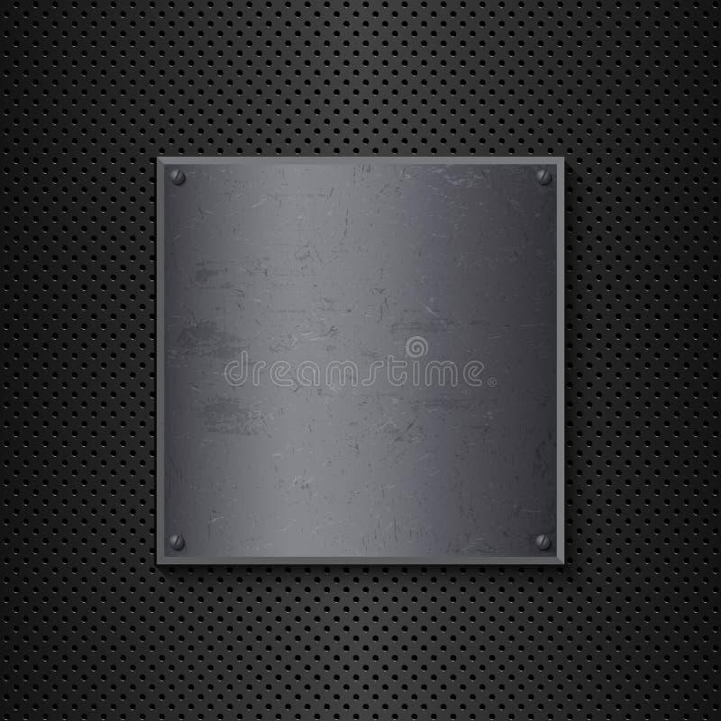 Предпосылка металла Grunge Стоковое Изображение