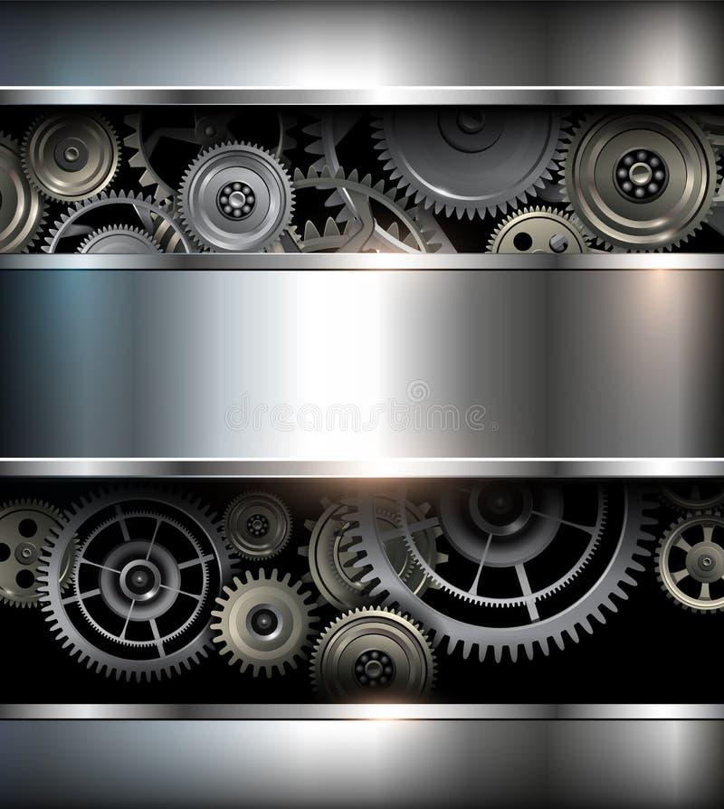 Предпосылка металлическая иллюстрация вектора